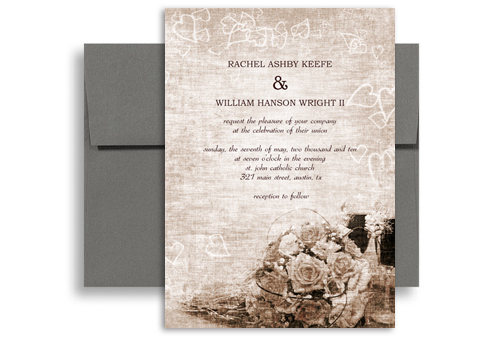 Classic Traditional Roses Wedding Invitation Design 5x7 in – Wedding Invitations Traditional Designs