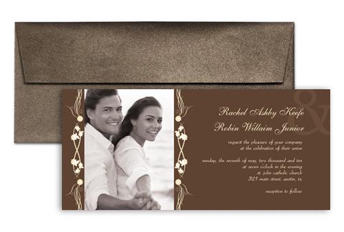 Modern Design Style Wedding Invitation 9x4 In Horizontal