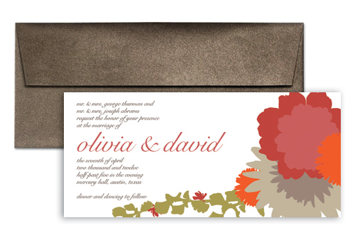 Simple flower blossom wedding invitation design 9x4 in horizontal simple flower blossom wedding invitation design 9x4 in horizontal stopboris Choice Image