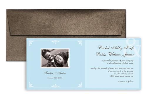 Templates African American Wedding Invitation Design 9x4 In. Horizontal