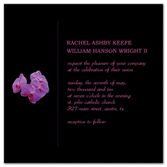 Do It Your Self Orchid Wedding Invitation Example