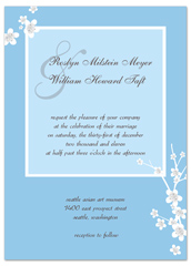 Downloadable Online Blue Wedding Invitation Example