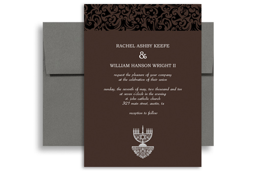 Jewish Wedding Gift Giving Etiquette : wedding invitation template wi 1037 inexpensive modern jewish wedding ...