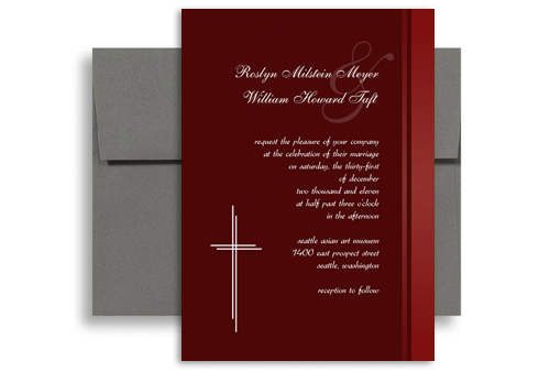 Baptist Religious Verses Wedding Invitation Ideas 5x7 in. Vertical