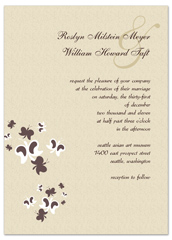 Brown Cream Butterflies Wedding Invitation Ideas