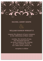 Brown Pink Border Indian Wedding Invitation Ideas