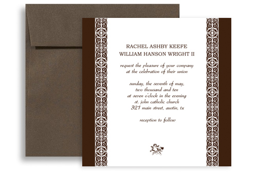 Wedding Invitation Template WI1085 Creative Square Shape Indian Wedding