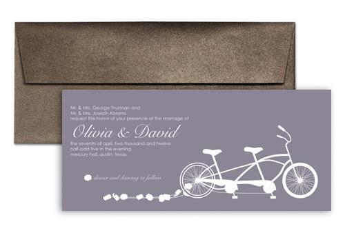 Cycling Concept Wedding Invitation Ideas 9x4 In Horizontal