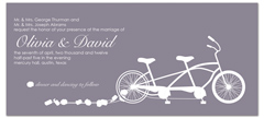 Cycling Concept Wedding Invitation Ideas