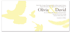 Love Doves Design Wedding Invitation Ideas