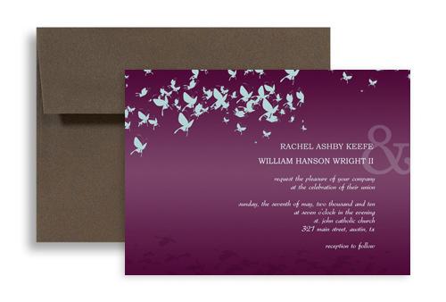 Erfly Wedding Invitation Ideas 7x5