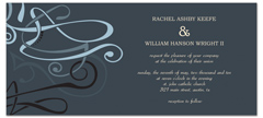 4x9 Horizontal Graphic Wedding Invitation Templates