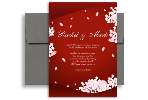 Classic Asian Indian Flower Wedding Invitation Templates 5x7 in – Marriage Invitation Card Templates Free Download