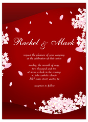 Classic Asian Indian Flower Wedding Invitation Templates