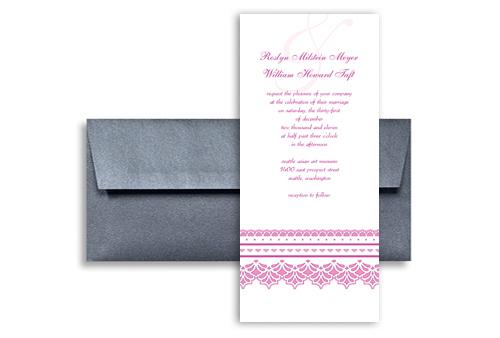 Printable Diy Purple Wedding Invitation Templates 4x9 in Vertical