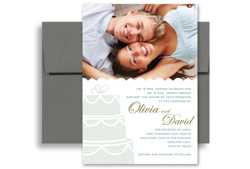 Trendy Modern Design Wedding Invitation Templates 5x7 In. Vertical