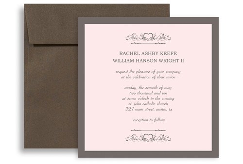 western american style wedding invitation templates 5x5 in. square, Wedding invitations