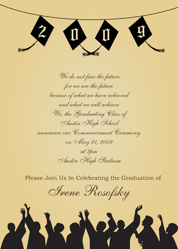 Graduation Invitations Letter