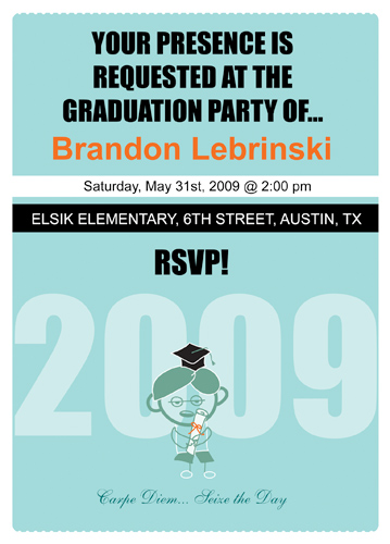 Homemade Graduation Invitations