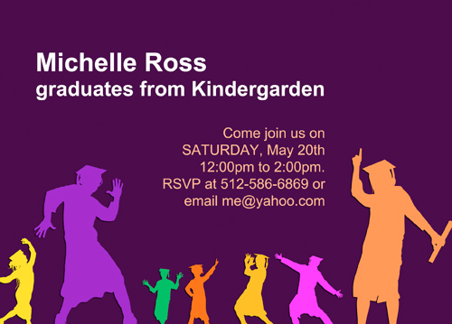 Graduation Invitations For Kindergarten