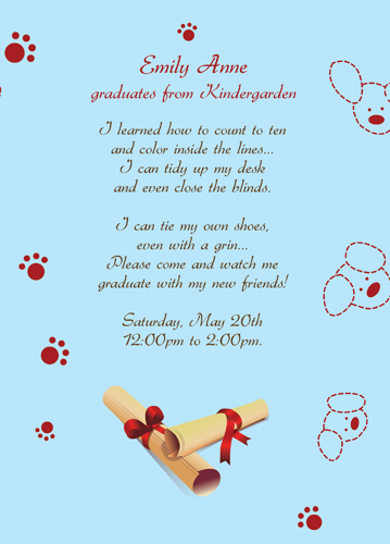 Graduation Announcement Verses Open House
