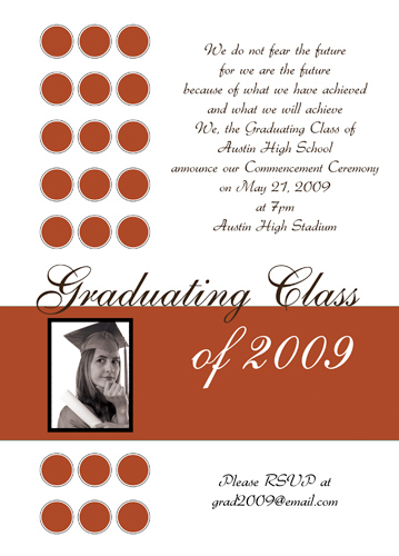 2011 Graduation Announcement Samples