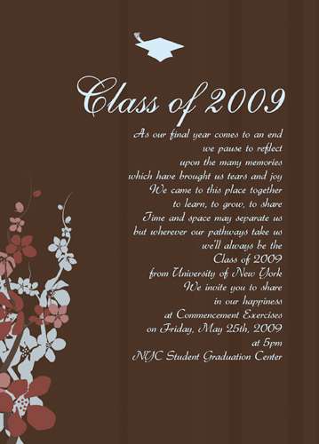 Graduation Invitations Verses