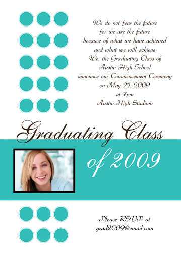 Sample Graduation Announcement