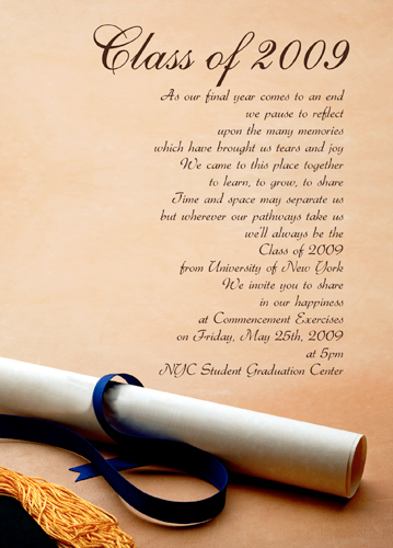 Graduation Invitation Text