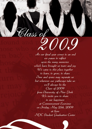 Sample Graduation Announcements For College Students