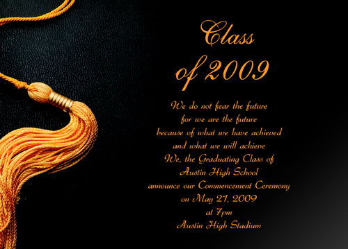 Graduation Announcement Words