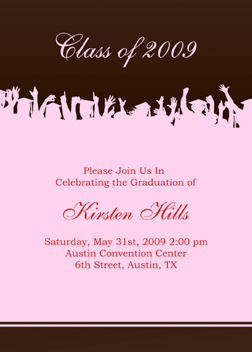 Graduation Announcements Samples Open House