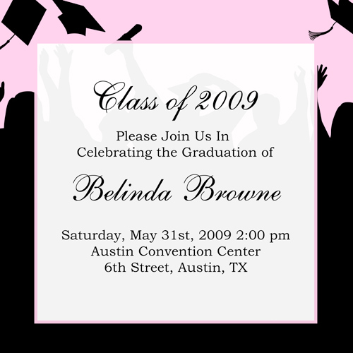 Graduation Announcement Etiquette Envelopes
