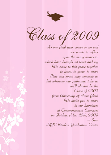Graduation Invitations Middle School
