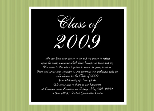 2011 High School Graduation Invitations