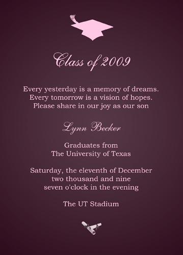 Graduation Announcement Grammar