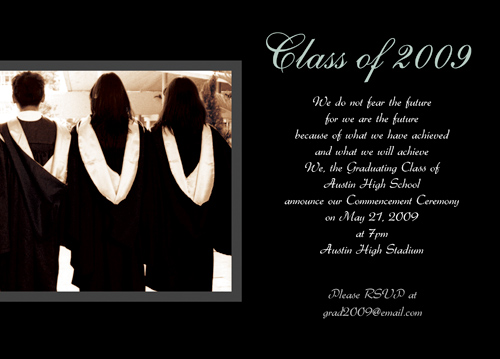 Free High School Graduation Announcement Wording Verses
