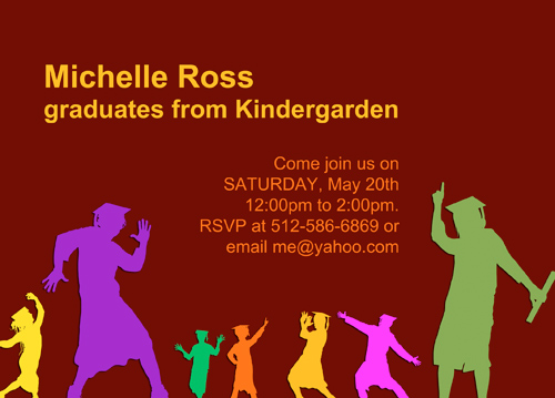 Pre Kindergarten Graduation Invitations