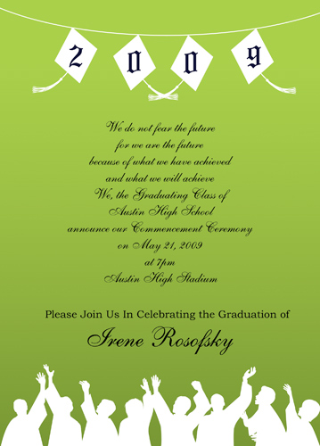 College Graduation Invitations Sayings