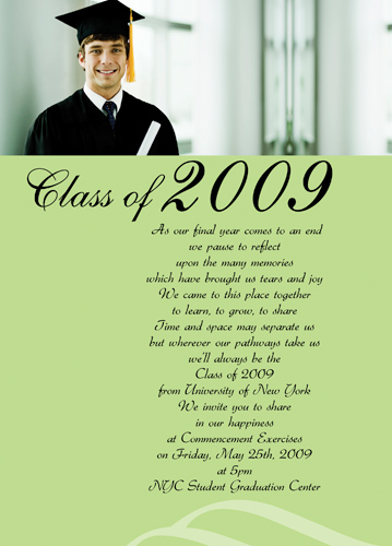 graduation announcement paper