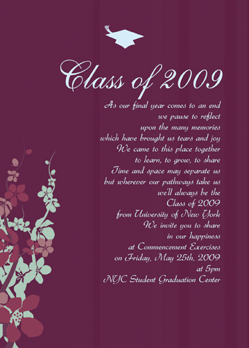Blank Graduation Announcement Font