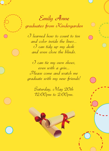 Graduation Announcement Paper Stock