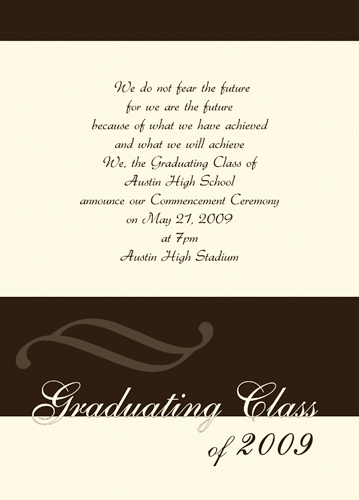 Graduation Announcement Rules