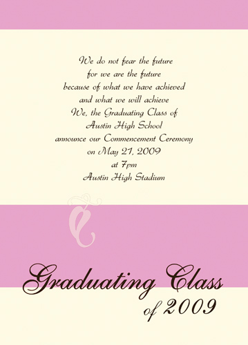 Sample Graduation Announcement Wording Homeschool