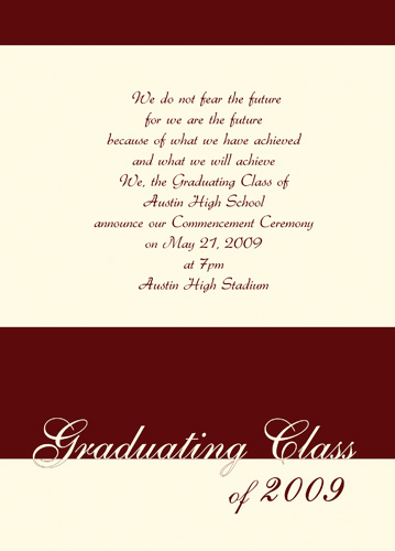 Graduation Announcement Address