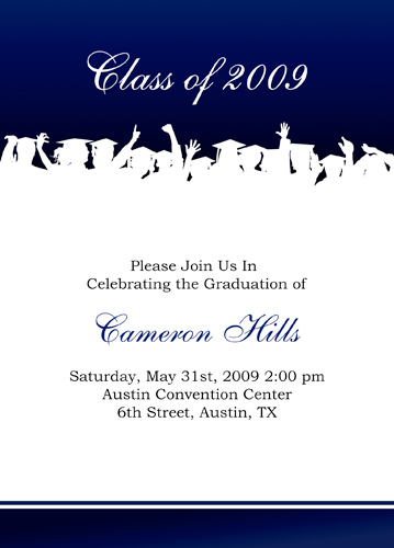 Sample Kindergarten Graduation Invitations