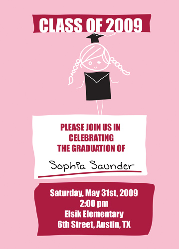 Graduation Announcement Verses Invitation