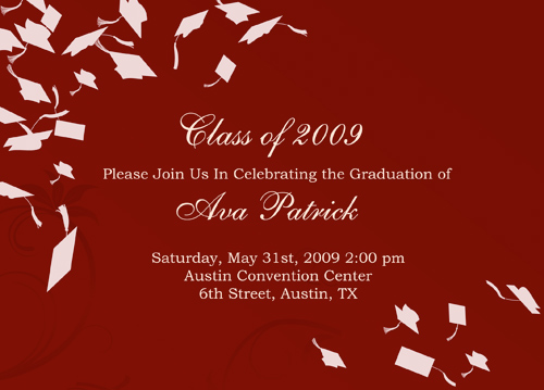 Card Making Graduation Invitations