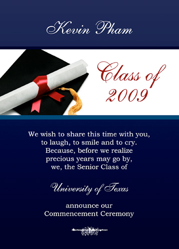 Sample Graduation Invitations To Print