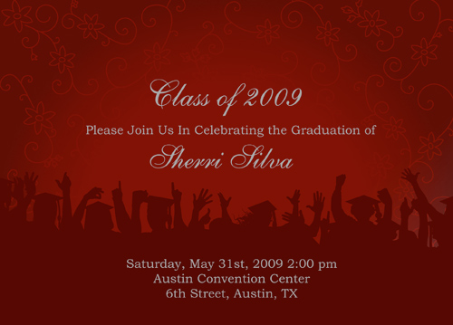 Blank Graduation Invitations Kits